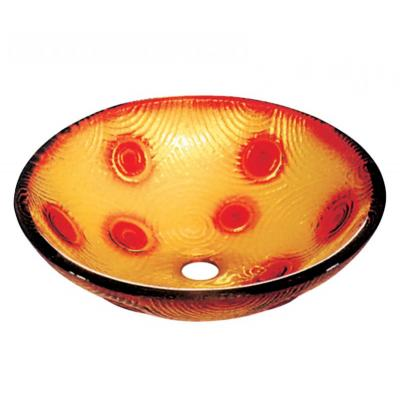 GLASS NIΠΤΗΡΑΣ   DIA 42*145 YELLOW - RED